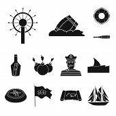 Vector Design Of Journey And Seafaring Icon. Collection Of Journey And Adventure Stock Symbol For We poster