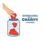 Vector Illustration On The Theme International Day Of Charity poster