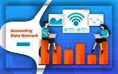 Internet And Wifi Networks Make It Easy For Accounting Data Network To Determine Cost Accounting And poster