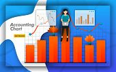 Accounting Chart Design With Bar Charts And Line Charts For All Accounting Activities, Accounting Tr poster