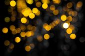 Abstract Gold Bokeh Circles , Bokeh Abstract Christmas And New Year Theme Background, Gold Defocused poster