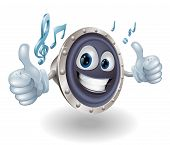 stock photo of hands up  - Illustration of a cool music audio speaker character doing a double thumbs up - JPG