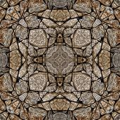 Seamless Symmetrical Pattern Abstract Old Rock Texture poster
