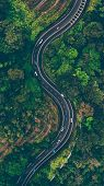 An Aerial Photo Graphy Of S-shaped Road/ Drone Photogtaphy poster