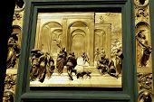 Постер, плакат: Флоренция Баптистерий двери ворота рая группы