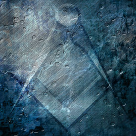 pic of freemasons  - freemason symbol on a grunge like background - JPG