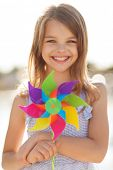 stock photo of girl toy  - summer holidays - JPG