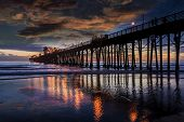 stock photo of mile  - Oceanside Sunset  - JPG