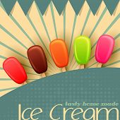 stock photo of lolli  - vector illustration of colorful Ice cream lolly Poster design - JPG