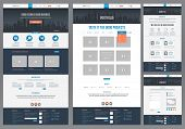 stock photo of e-business  - Easily editable flat style website template - JPG