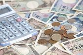 stock photo of yen  - Japanese currency bank notes  - JPG