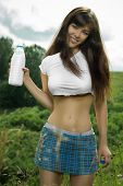 picture of milkmaid  - girl in a t - JPG