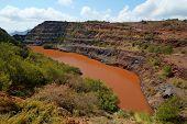 stock photo of iron ore  - The Ngwenya Iron Ore Mine - JPG