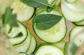 picture of potassium  - Cucumber water in the transparent pitcher  - JPG