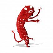 stock photo of gross  - cartoon gross little monster - JPG