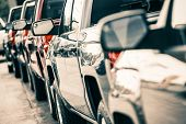 stock photo of truck  - Cars Traffic Closeup - JPG