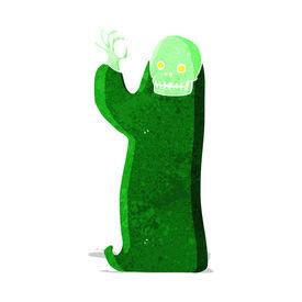 picture of ghoul  - cartoon waving halloween ghoul - JPG