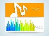 foto of equality  - Musical website banner or header set with musical sign and volume equalizer - JPG