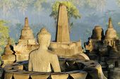 picture of breathtaking  - breathtaking sunrise in Borobudur Indonesia  - JPG