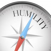 image of humility  - detailed illustration of a compass with humility text - JPG