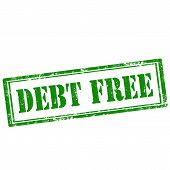 pic of debt free  - Grunge rubber stamp with text Debt Free - JPG