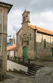 stock photo of minos  - Church in the historical quarter of Tui a border town with Portugal in the region of Galicia Spain - JPG