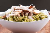 image of meals wheels  - peas pesto with rotini and diced grilled chicken a delicious healthy meal - JPG