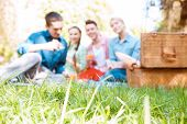 pic of food groups  - Relaxing outside - JPG