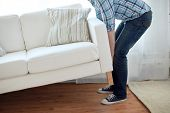stock photo of sofa  - new home - JPG