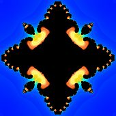 image of plasmatic  - Abstract fractal flames salient from blue plasma - JPG