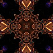 image of celtic  - Abstract metallic bronze viking or celtic like pattern made seamless - JPG