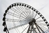 picture of ferris-wheel  - The Ferris wheel in center of Budapest Hungary - JPG