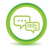 foto of intercourse  - Green round volumetric icon with two chat bubbles - JPG
