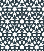 stock photo of prism  - vector dark monochrome color abstract triangle geometric seamless pattern white background - JPG