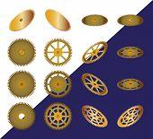 picture of cogwheel  - Set of cogwheels - JPG