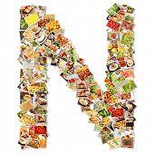 stock photo of letter n  - Letter N Uppercase Font Shape Alphabet Collage - JPG