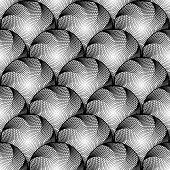 picture of uncolored  - Design seamless monochrome circular geometric pattern - JPG
