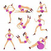 foto of surya  - Vector yoga illustration - JPG