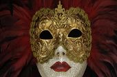 stock photo of venice carnival  - horizontal picture of a mask of Venice carnival - JPG