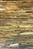 stock photo of tripe  - Stratigraphic close up material stone natural cracked texture  - JPG
