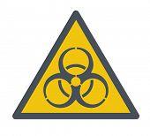 picture of biohazard symbol  - A Biohazard symbol - JPG