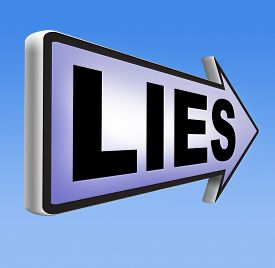 stock photo of promises  - lies breaking promise break promises cheating and deception lying    - JPG