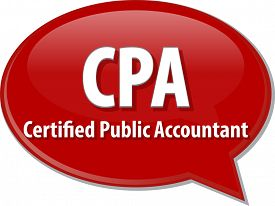 image of cpa  - word speech bubble illustration of business acronym term CPA Certified Public Accountant - JPG
