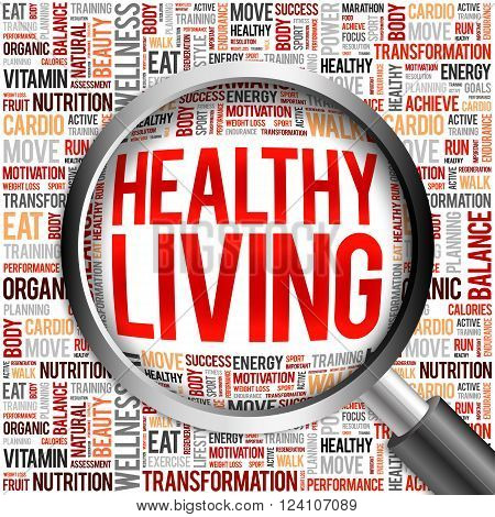 Healthy Living Word Cloud Poster Id 124107089