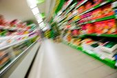 picture of grocery store  - an abstract blur of a grocery store aisle - JPG