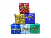 picture of christmas-present  - christmas presents on white background - JPG