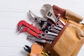 Tool Belt With Hand Tools poster