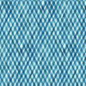 Watercolor Diagonal Stripe Plaid Seamless Pattern. Blue Teal Stripes On White Background. Watercolou poster