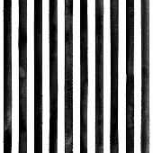 Watercolor Black Stripes On White Background. Black And White Striped Seamless Pattern. Watercolour  poster