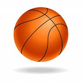 Basketball Ball Icon. Realistic Symbol Basketball Ball Isolated On White Background. Basketball Ball poster